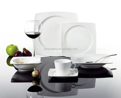 Bone China dinner set /Porcelain/square /high quality/OEM,ODM/plate/cup/bowl