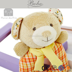 Original design scarf bear plush toy baby rattle