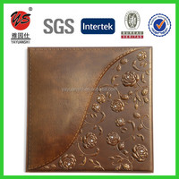 2016 new innovation decorative 3D leather wall panel 3d wall panels 3d faux leather covering wall panel ceiling panel