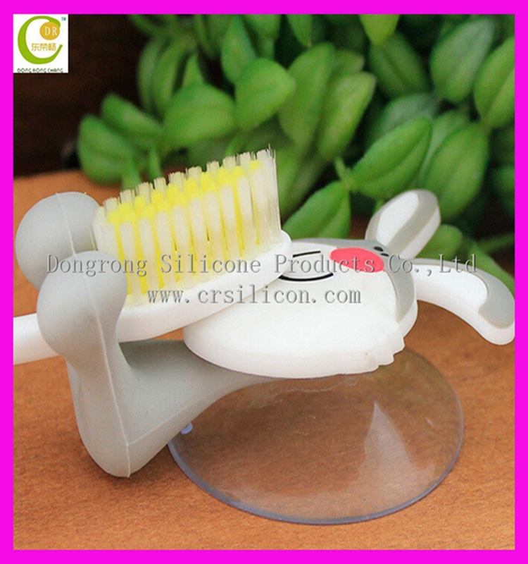 Frogs Convenient Cute Animal Silicone Toothbrush Holder