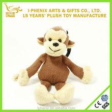 New design cheap animal keychains cute soft mini plush monkey toy chinese supplier