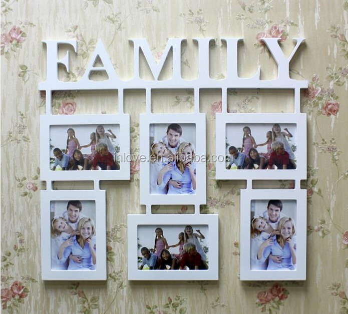 Bilderrahmen Holz Weis 40X40 ~ 2015 neues design holz weiß wand kunst Familie bilderrahmen Frame