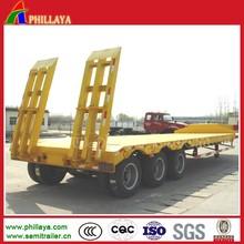 Heavy duty three BPW/FUWA axles drop deck semi trailer for the transportation of excavator