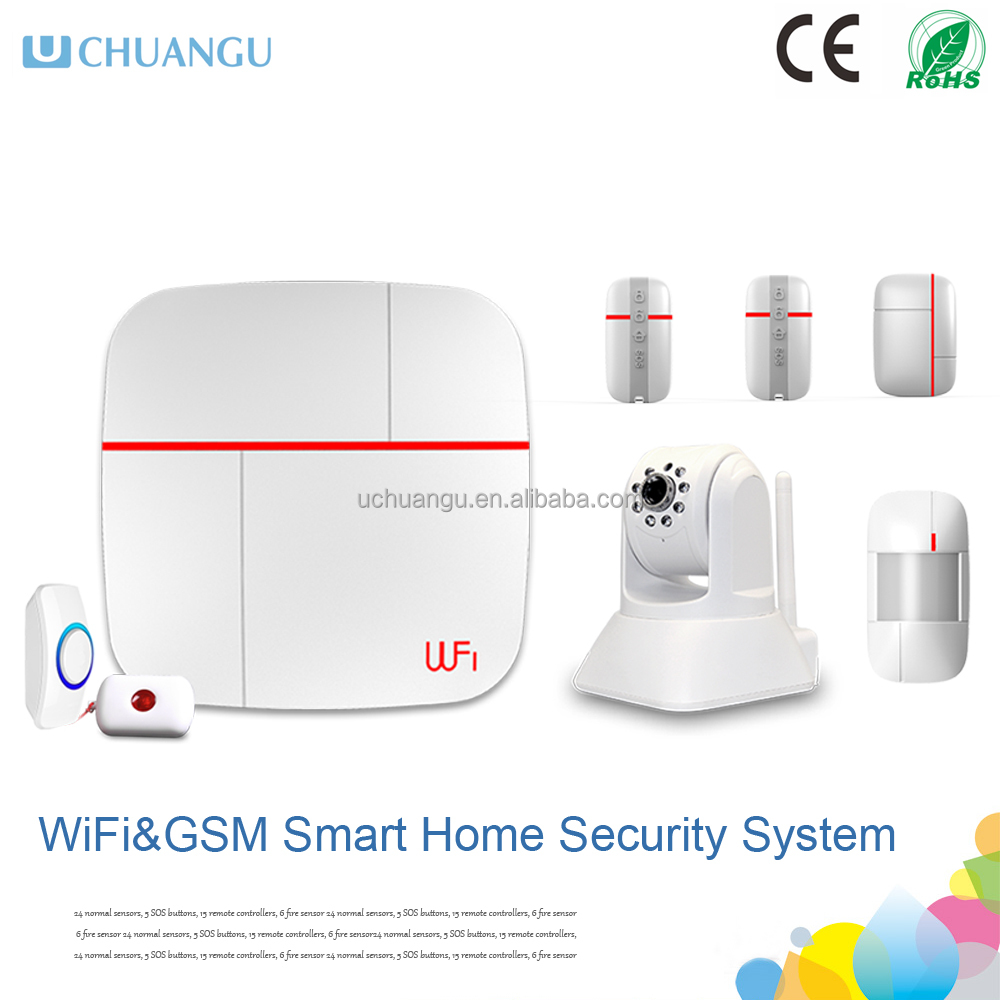 2015wifi camera gsm wifi smart home security system for Smart home alarm system