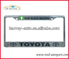 USA EU stainless steel or Chromed CAR LICENSE plate frame