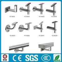wall mounted stainless steel railing bracket for stair handrail