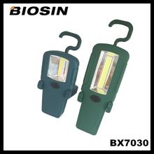 BX7030 High power 3W COB 200lumen ABS plastic emergency flashlight with hook