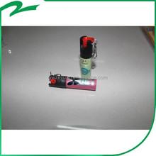 new product popular design 20 60 ml key chain pepper spray