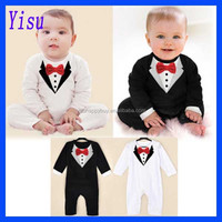 2015 Fashion Baby Boy Coverall Jumpsuit Bodysuit Gentleman lace Romper