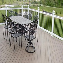 Factory price fire-resistant hollow wood plastic composite WPC decking /wpc board