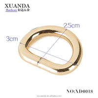 Metal D Ring Buckle Wire Clips for Garment/Shoes/Bags/Belts/Scarf