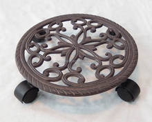 Metal Flower Plant Pot Stand with Wheels