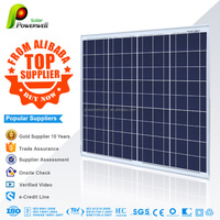 Powerwell Solar 156mm*78mm Solar Cells 75-80w Poly Silicon Solar PV Panels Module With CE/IEC/TUV/ISO Top Supplier
