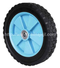 10 inch lawnmower RUBBER wheel with bearing