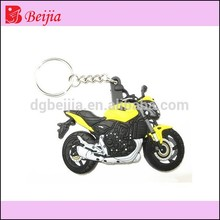 Soft PVC mini car motorcycle shape keychain for 2015 promotional gifts