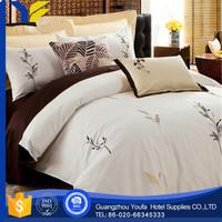 plain dyed hot sale twin solid color light blue bedding set