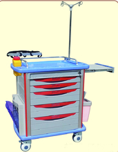Modern appearance hospital crash cart medical trolley at fair price CY-D411