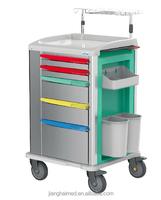 ABS plastic emergency hospital trolley JH-GET02