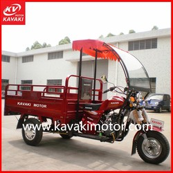 Chinese 3 wheel red Classic sidecar motorcycle with front windshield