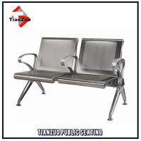 Two Seater armchair 304 stainless steel gang chair