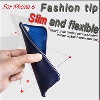 For iphone 6 case leather cover with premium microfibre, slim , soft and flexible