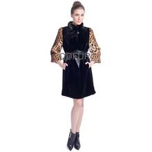 A80167 rabbit fur with raccoon coat warm outwear for women winter