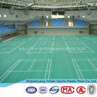 High quality pvc plastic floor used badminton court flooring