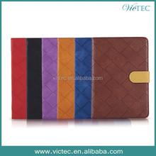 Ling plaid slim flip leather cover case for ipad mini retina