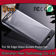 2015 For Samsung S6 Screen Protector 9H 0.33mm 2.5D,for Samsung Galaxy S6 Edge Mobile Phones Tempered Glass Screen Protector