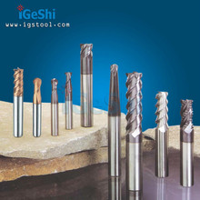 China 2 flute 3 flute 4 flute tungsten solid carbide end mills, ball nose end mill, milling cutter