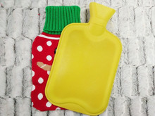 2015 Microwave Activated knitted hot water bottle/bags with cute snowman cover
