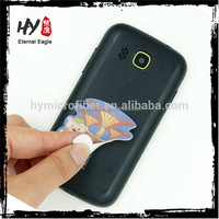 Promotional adhesive microfiber custom sticky mobile phone screen cleaner