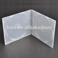 10mm Double DVD Frosty Clear Short PP CD Case