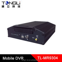 Mobile DVR 4 channels recording, D1 resolution, Supports 128G / 1T HDD storage
