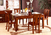 old solid wood table and chairs Canton Fair Christmas dining table and chairs