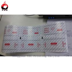 paper laminated pe film material/sugar pack film
