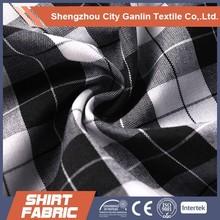 yarn dyed check shirting fabric for man shirt