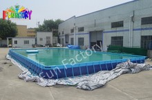 2015 High quality metal frame inflatable swimming pool for adult