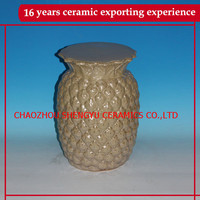 home and garden decorative ceramic pineapple stools