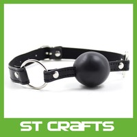 PU Leather black Soft Ball Gag, Mouth Gag,Bondage Ball Gag Costume Bondage Restraints