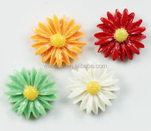 colorful flower resin accessory fridge accessory diy phone accessory jewelry for promotion decoration