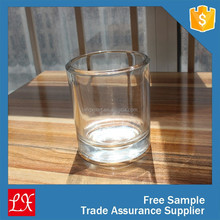 Handmade clear glass cup for candle making