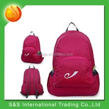 Foldeable super lightweight nylon name brand backpack for school