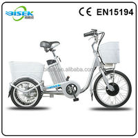 electric pedal exerciser bike with 3 wheels for adult
