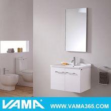 VAMA 36' Fashion Makeup Mirror With Storage Shelf Tv Cabinet With Showcase