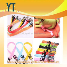 Custom Logo Printing multi colors Strong pet/Dog Car Travel Safe Seat Belt Clip Lead Restraint Harness Auto traction leads
