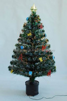 Low Price Mini Outdoor Decorative Artificial PVC Fiber Optic Christmas Tree