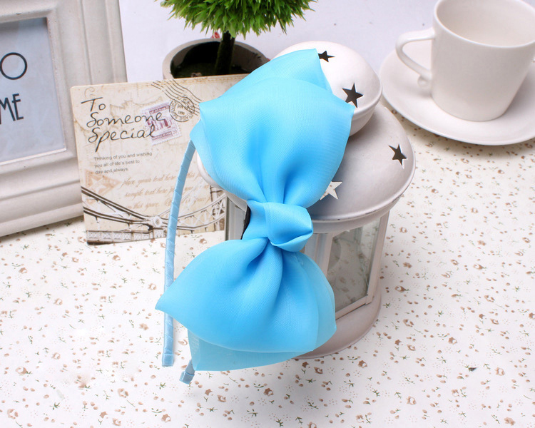 Wholesale Wedding Hair Accessories For Kids Headpiece For Flower Girls Big Bow Lace Hair Bands