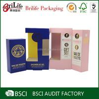 Custom Design Paper Printed Retail Cosmetic Packaging
