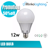 Bridgelux Epistar 12w led smd2835 plastic LED bulb